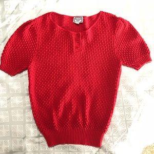 Vintage short sleeve knit